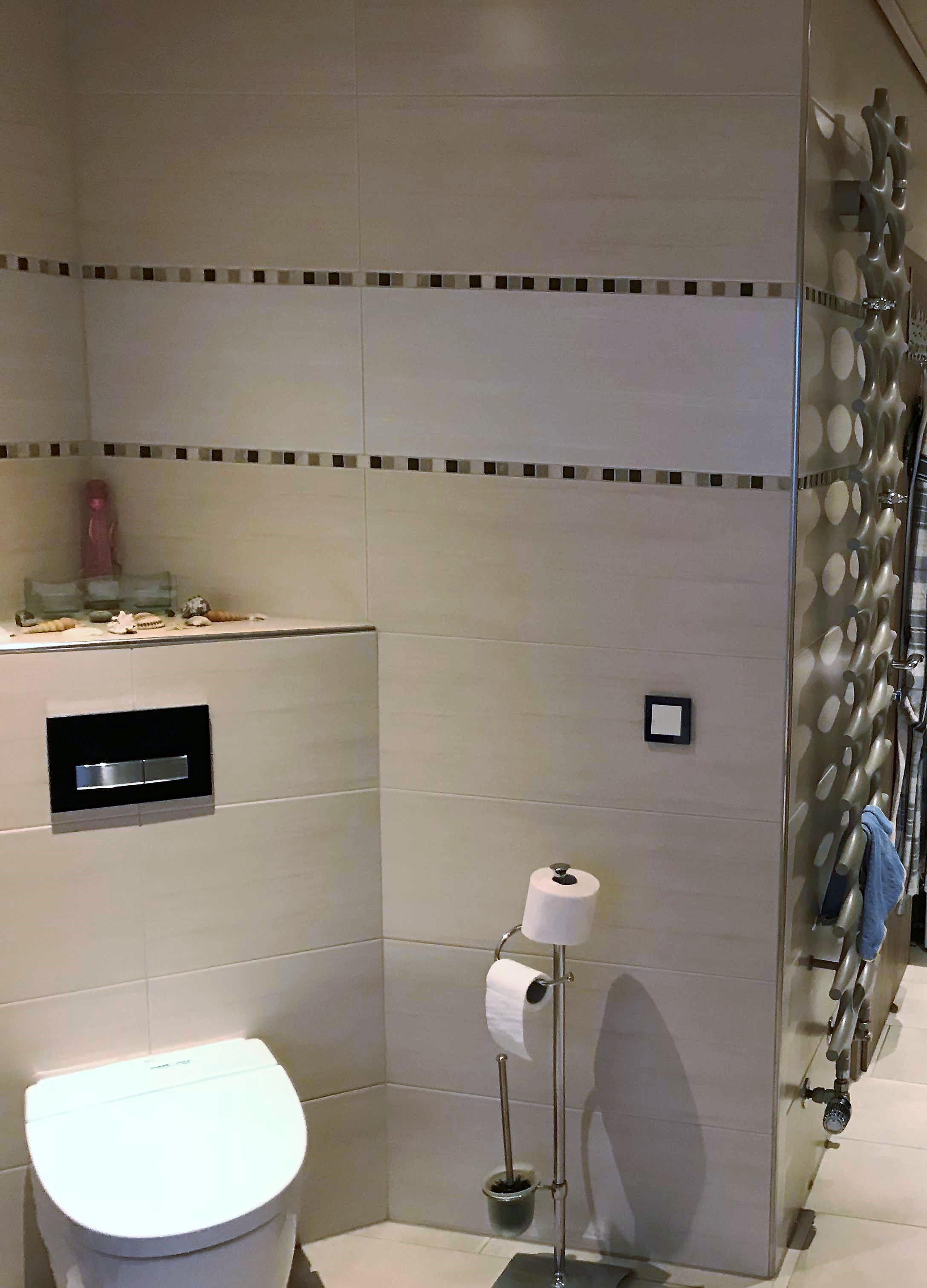 Toilette mit Wandheizung 1